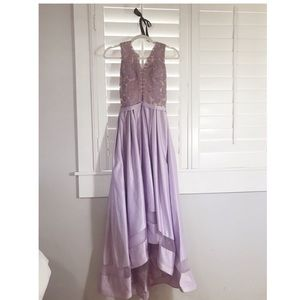 Dresses & Skirts - Lavender Lace & Satin Prom Dress